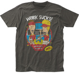 Beavis And Butt-Head- Work Sucks Distressed Shirts