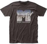 MTV- Distressed Chrome Logo T-Shirts