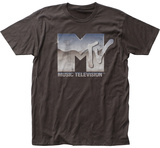 MTV- Distressed Chrome Logo T-shirts