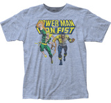 Power Man And Iron Fist- Charging Ahead Distressed T-shirts