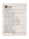 Love Never Fails Posters by Jo Moulton