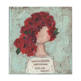 Red Rose Girl II Prints by Cassandra Cushman