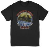 Aerosmith- Train Kept A Rollin Distressed T-Shirts