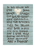 House Heart Rules Posters by Jo Moulton