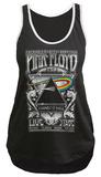 Juionrs Sport Tank: Pink Floyd- Distressed Carnegie Hall '72 Bulletin Tshirt