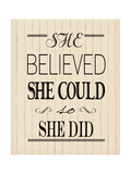 She Believed Wood Prints by Jo Moulton