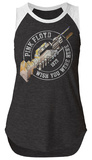 Juniors: Pink Floyd- Wish You Were Here Sleeveless Raglan - Tişört