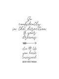 Go Confidently Arrow Premium Giclee Print by Tara Moss