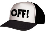 Off!-- Distressed Black Logo Snapback Hat