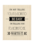 Easy Cream Wood Posters by Jo Moulton