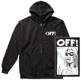 Zip Hoodie: Off!-- Wasted Years Surfer Boyfriend (Front/Back) Zip Hoodie