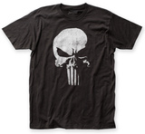 The Punisher- Distressed Half Skull Emblem T-Shirt