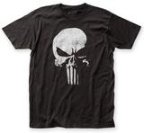 The Punisher- Distressed Half Skull Emblem T-Shirt