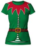 Juniors: Holly Jolly Elf Costume Tee - Tişört