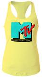 Juniors Tank: MTV- 8-Bit Logo Tshirt