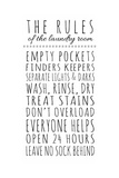 Rules of the Laundry Room Print by Anna Quach