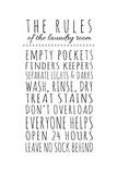 Rules of the Laundry Room Planscher av Anna Quach