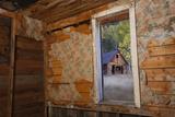 Old Ghost Town Interior in Bonanza, Colorado Photographic Print by John Burcham