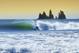 Long Boarder Finds a Wave Near Vik, Iceland Photographic Print by Chad Copeland