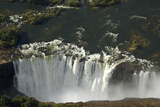 Aerial View over Victoria Falls, Zambia Fotografisk tryk af Anne Keiser