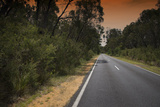 Road under Smoke Filled Skies from Brush Fire in Grampians, Australia Photographic Print by Chad Copeland
