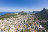 Aerial View of Christ the Redeemer Statue Overlooking the City of Rio De Janeiro, Brazil Photographic Print by Mike Theiss