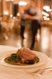 Prime Rib Is Served at the Luxurious Awahnee Hotel in Yosemite National Park Photographic Print by Dmitri Alexander
