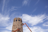 Construction on the Desert View Tower in Grand Canyon National Park, Arizona Photographic Print by John Burcham