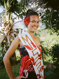 Miss Hiva Oa, Models Traditional Clothing in the Marquesas Islands Photographic Print by Dmitri Alexander