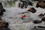 Kayak Surfing in Whitewater on the Potomac River Photographic Print by Tyrone Turner