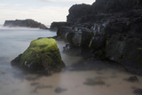 Mossy Rocks in the Surf Photographic Print by Gabby Salazar