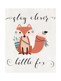 Stay Clever Little Fox Premium Giclee Print by Tara Moss