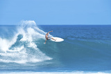 Surfer on Wave on Oahu's North Shore Photographic Print by Chad Copeland