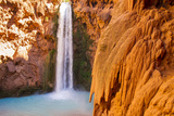 A Scenic View of Mooney Falls in the Havasupai Indian Reservation in Arizona Photographic Print by Mike Theiss