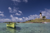 Ile Aux Fouquets, a Small Islet in the Blue Bay with a Lighthouse Photographic Print by Gabby Salazar