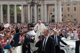 Pope Francis Attends His Weekly Audience in Saint Peter's Square Photographic Print by Lori Epstein