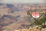 Warning Sign at Grand Canyon National Park, Arizona Photographic Print by John Burcham