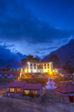 Tangboche Monestery at Night, Khumbu Valley, Nepal Fotografisk tryk af John Burcham