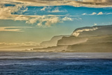 Molokai's North Shore Sea Cliffs at Sunrise Photographic Print by Richard A. Cooke