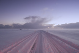 Snow Covers the Main Highway in Iceland Photographic Print by Chad Copeland