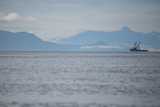 Fishing Boat Sails in Southeast Alaska's Inside Passage Photographic Print by Erika Skogg