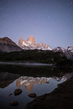 Reflection of Fitzroy Mountain on a Lake in Los Glaciares National Park, Patagonia Photographic Print by Jordi Busque
