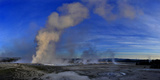 Steam Rises from Erupting Geysers Lower Geyser Basin Photographic Print by Raul Touzon