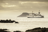 A Luxury Passenger Ship Sails around the Galapagos Islands Photographic Print by Jad Davenport