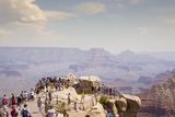 Tourists at Mather Point in Grand Canyon National Park, Arizona Photographic Print by John Burcham