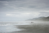 Hikers on the Coast Sand Beach in Olympic National Park, Washington Photographic Print by Bill Hatcher