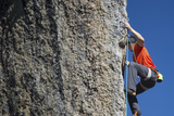 Male Climber Ascending Rock at Cirque of the Unclimbables Photographic Print by Chad Copeland