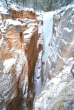 Ice Climber on an Ice Formation in Zion National Park Photographic Print by Chad Copeland