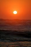 Sunset over the Ocean, Swakopmund Town, Namibia Fotografisk tryk af Anne Keiser
