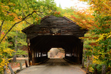A Fall View of the Albany Covered Bridge, Built in 1858, New Hampshire Photographic Print by Darlyne Murawski